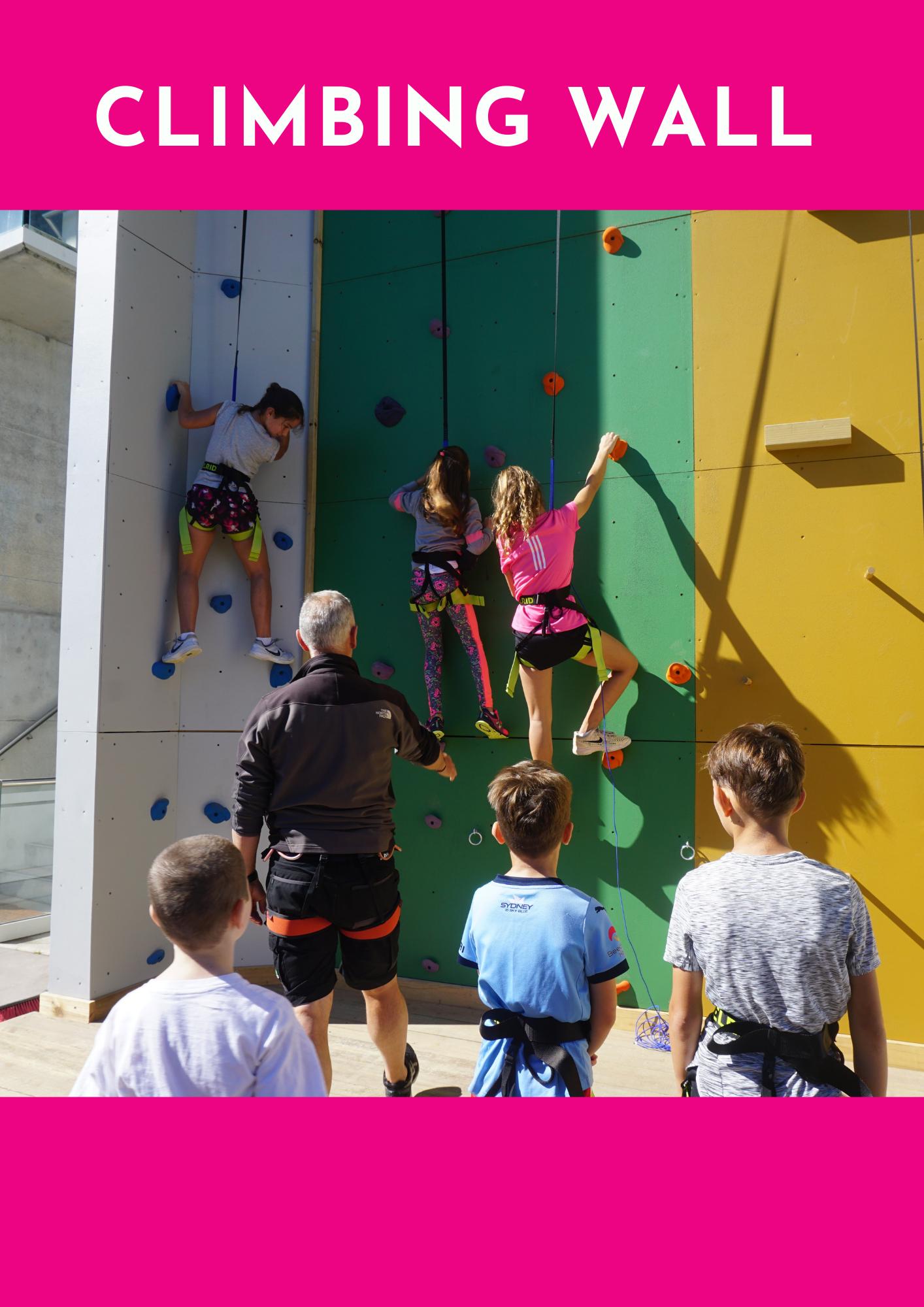 after school program climbing wall